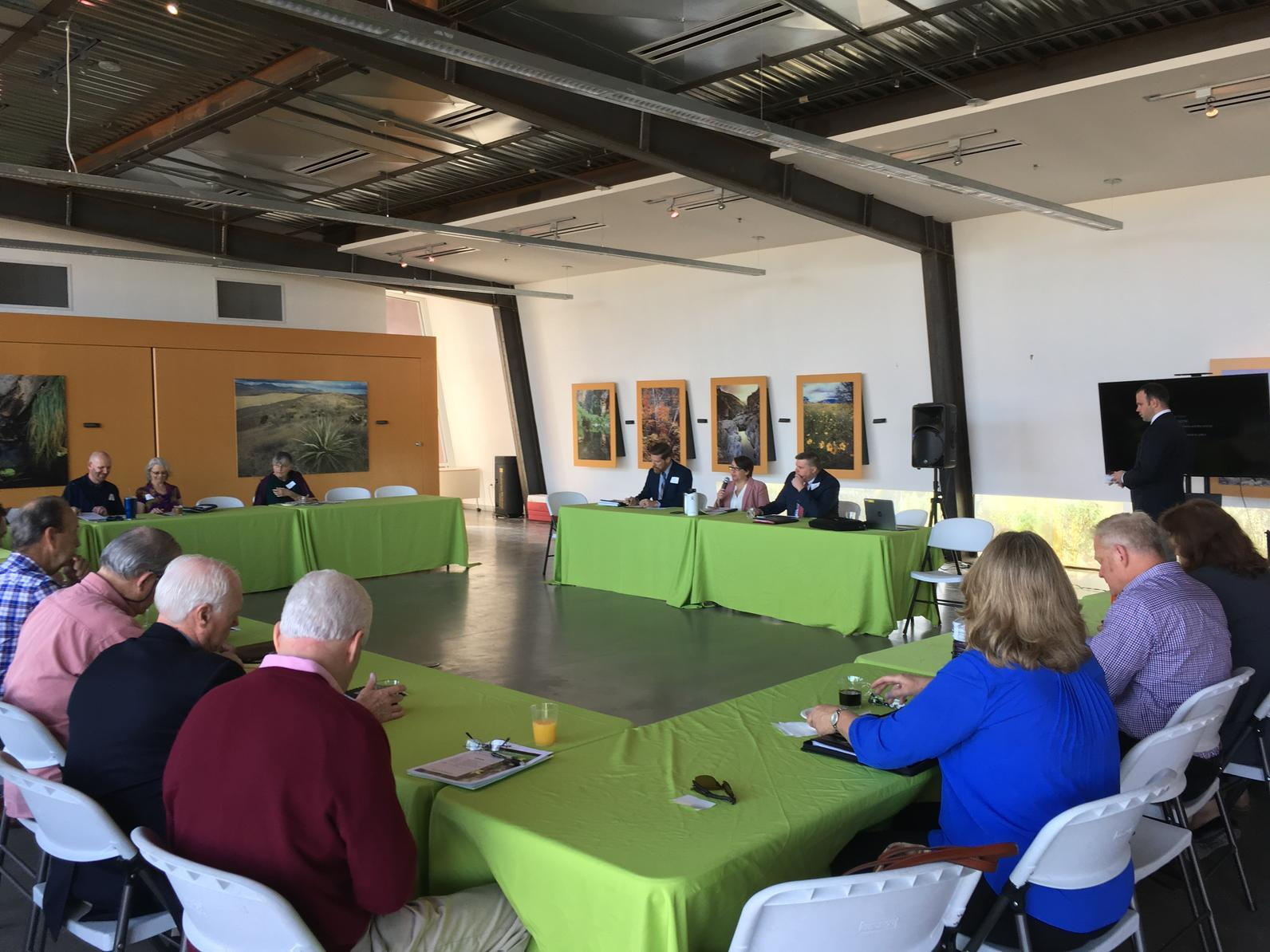 WRAN Leaders gather at the Rio Salado Audubon Center for a mid-session legislative update