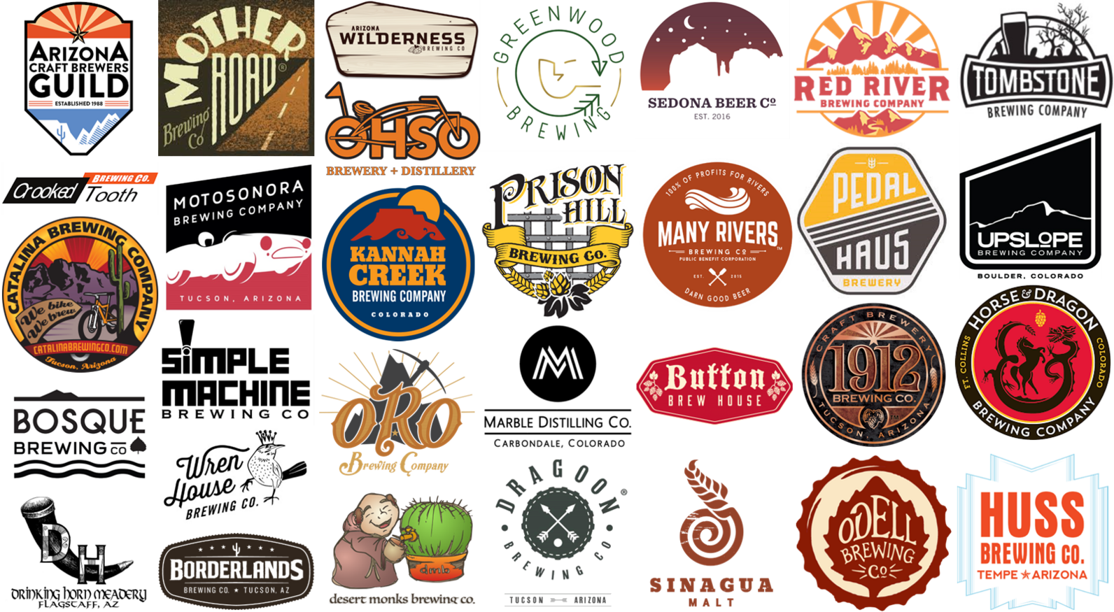 Western Rivers Brewers' Council member logos