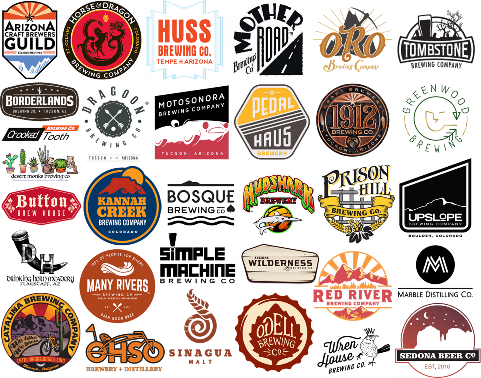 Western Rivers Brewers Council member brewery logos